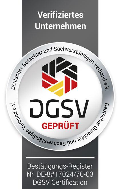 DGSV verifiziertes Unternehmen, KFZ Gutachten Köln, Carsten Radke